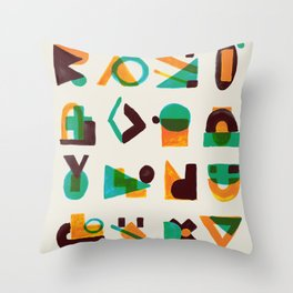 Shape of thoughts Throw Pillow