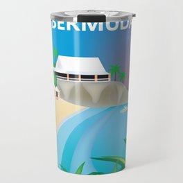 Bermuda - Skyline Illustration by Loose Petals Travel Mug