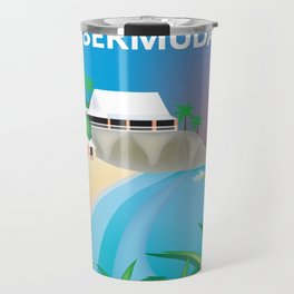 Bermuda - Skyline Illustration by Loose Petals Travel Mug