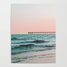 Beach Pier Sunrise Poster