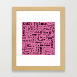 Just Dance - Pink Framed Art Print