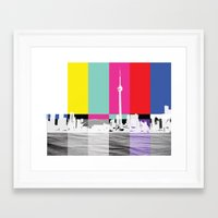 toronto Framed Art Prints featuring Toronto by Shazia Ahmad