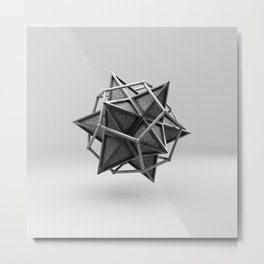 Caged Stellated Dodecahedron Metal Print