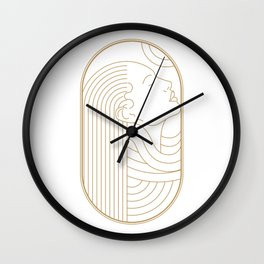 Girl Art Deco 06 Wall Clock