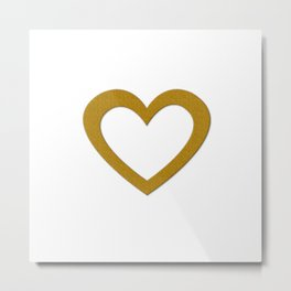 Giant Gold Heart Metal Print