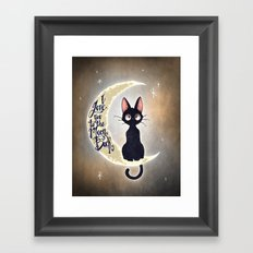 I Love You To The Moon & Back Framed Art Print