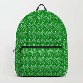 Green Christmas Present And Stocking Pattern Backpack