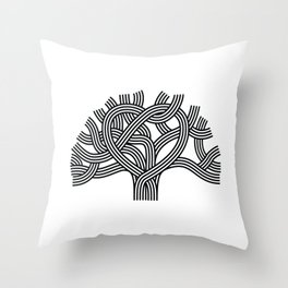 Oakland Love Tree (Black) Throw Pillow