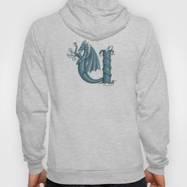 """Dragon Letter U, from """"Dracoserific"""", a font full of Dragons Hoody"""