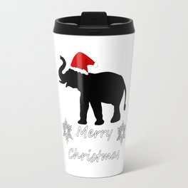 "Elephant ""Merry Christmas"" Travel Mug"