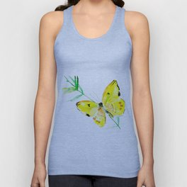 Yellow Butterfly Unisex Tank Top