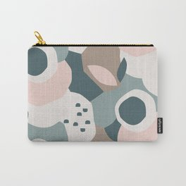 Bold Floral in Dusty Blue & Pink Carry-All Pouch