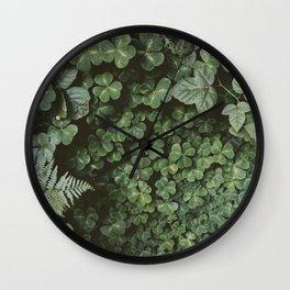 Wood Sorrel Wall Clock