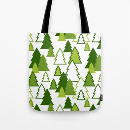 Winter forest pattern Tote Bag