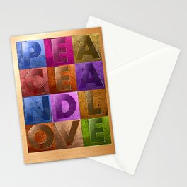 Peace & Love (multi) Stationery Cards