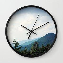 Atop Mt Mitchell Wall Clock