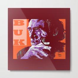 Charles Bukowski - PopART Metal Print