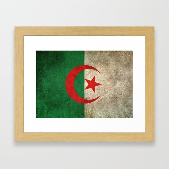 Old and Worn Distressed Vintage Flag of Algeria by jeffbartels