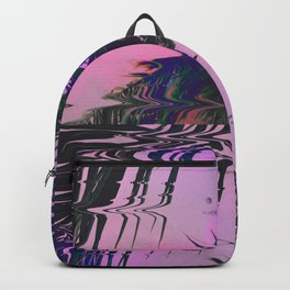 Glitchy Palm Backpack