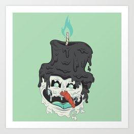 Frothy the Snowman Art Print