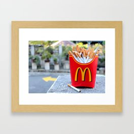 Smoked Fries Framed Art Print