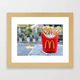 Smoked Fries Framed Art Print