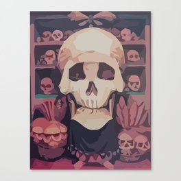 the double face of the skull Canvas Print