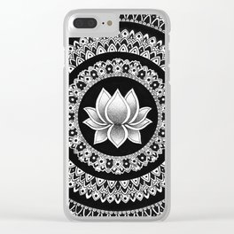 Lotus Mandala Clear iPhone Case