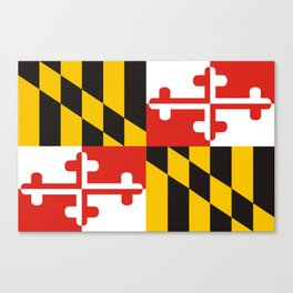maryland state state flag united states of america country Canvas Print