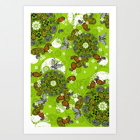 butterfly carousel Art Print