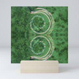 Circle ocean Mini Art Print