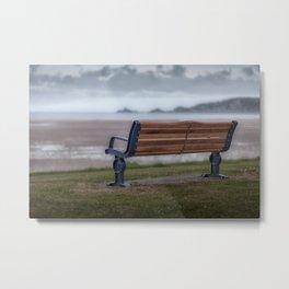 Mumbles memorial bench Metal Print