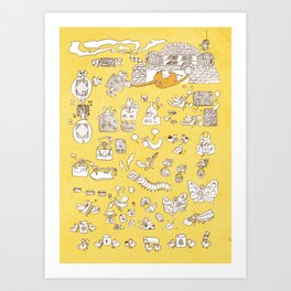 Sun and Breads and Insects Art Print