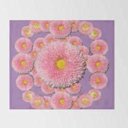 Spring Mandala Throw Blanket