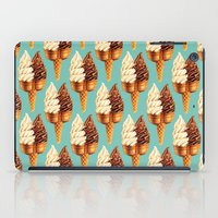novelty iPad Cases featuring Ice Cream Pattern - Teal by Kelly Gilleran