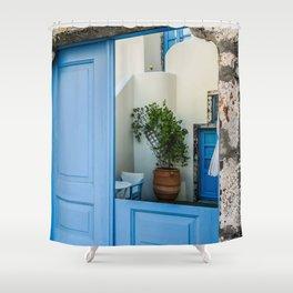 Broken door Shower Curtain