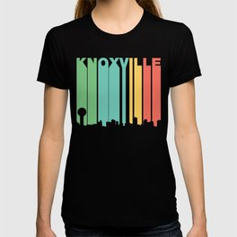 Retro 1970's Style Knoxville Tennessee Skyline T-shirt