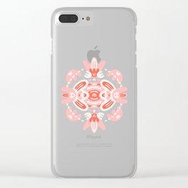 Mouth Mandala Clear iPhone Case