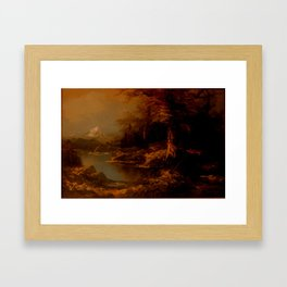 Landscape painting Framed Art Print