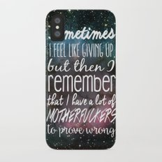 Prove Them Wrong iPhone X Slim Case