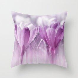 Crocuses  0174 Throw Pillow