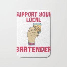 support Shots Party Alcohol trust me Bartender Beer Waiter Liquor Bistro Glass Tequila Bath Mat