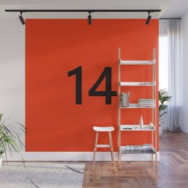 Legendary No. 14 in orange and black Wall Mural