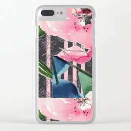 Floral Clash Clear iPhone Case