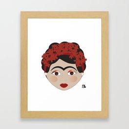 FRIDA KAHLO RED Framed Art Print