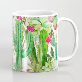 Cactus Floral Collage Coffee Mug