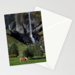 Horse in Iceland Stationery Cards
