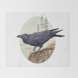 Raven of the North Atlantic Throw Blanket