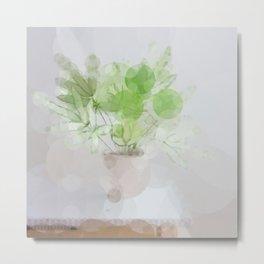 Eucalyptus Green Leaves Metal Print