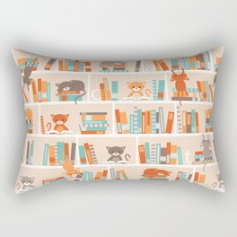 Library cats Rectangular Pillow